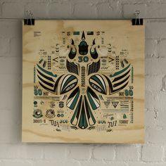 Kowhai Squadron by Walter Hansen #zealand #design #screenprint #plywood #new
