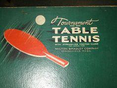 Vintage Tournament Table Tennis Ping Pong Original Boxed Set Milton Bradley | eBay #pong
