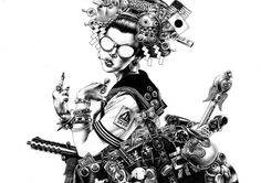 a071.jpg (JPEG Image, 1136x800 pixels) #hakuchi #drawing #badass