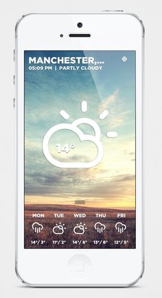 Morning Rain iOS Weather App on Behance #iphone #ios #app #weather