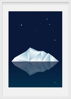 rock that horse — iceberg - A4 #night #iceberg