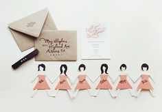 Wedding ideas / Bridesmaid Cards #gffbvcb