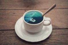 Unique Coffee Cup Manipulations by Victoria Siemer #Manipulations #artistic #uniqeDesign