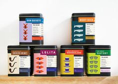 Your Favorite Books, If They Were Tea | Co.Design | business + design #packaging #design #can