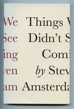 FFFFOUND! | Amsterdam.jpg (image) #book cover #print design #book jacket