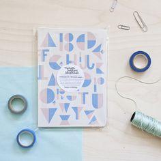 #nordic #design #graphic #illustration #danish #bright #simple #nordicliving #living #interior #kids #room #notebook #alphabet #blue #rosa