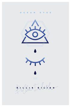 Music poster, the all seeing eye, horus eye, pyramid, eye, eyes, music, tears, ocean eyes, billie eilish, poster, graphic, graphic design
