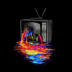 Pixel Overload T shirt by nicebleed design #illustration #pixel #hole #smash #pour #tv #overload