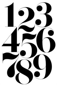 Numbers | Shiro to Kuro #typography #numbers