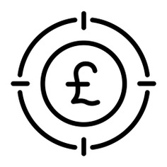 See more icon inspiration related to pound, business and finance, pound sterling, aim, sniper, shooting, weapons, marketing and target on Flaticon.