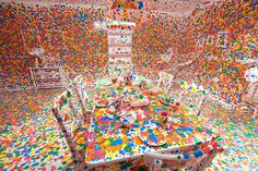 top-artists-of-2014-yayoi-kusama #abstract #yayoi #modern #kusama #spallter #contemporary #colors #artist
