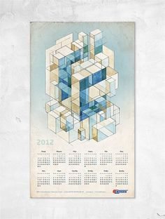 Календарь для компании Газстрой | Веб студия «Xdesign» #illustration #calendar