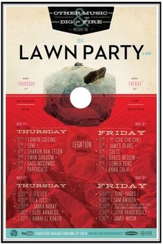 Graphic-ExchanGE - a selection of graphic projects #lawn #white #red #black #poster #party