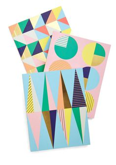 Geometric Musings Journal Set | Mod Retro Vintage Desk Accessories | ModCloth.com #mod #cloth