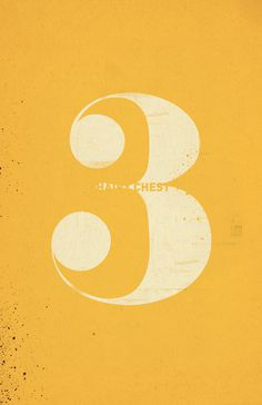 Third is the one with the… #illustration #number #typoography #poster