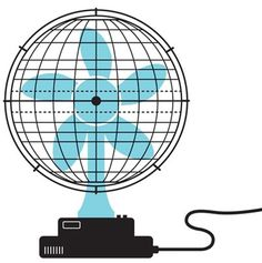Global Warming : Oliver Munday Graphic Design #illustration #design #globe #fan