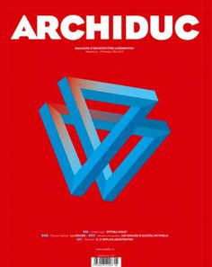 Archiduc (Luxembourg) #abstract #red #bold #cover #magazine