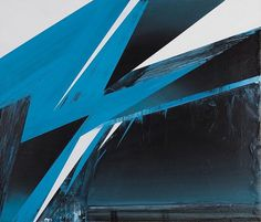 Phil Ashcroft // WORKS - Paintings #graphic #jagged #illustration #painting #blue