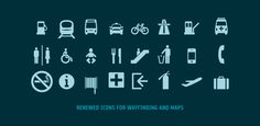 Cool icons that come with the Via Sans font. #fonts #typography #icons