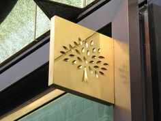 Mulberry Branding #signage #sign #gold
