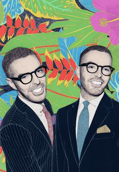 Dean and Dan Caten | Flickr - Photo Sharing! #illustration