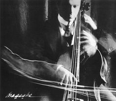 futurist photography | Tumblr #modernism #photography #musician #long exposure #futurist #bragaglia #cello