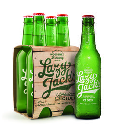 Lazy Jack's American-style Cider #bottle #packaging #cider