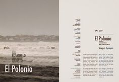 El polonio, Cocumental by Diego Pinzon at Coroflot #text #movie #diego #pinzon #print #layout #editorial #synopsis