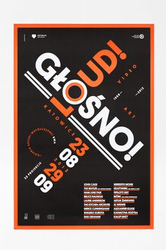 LOUD! / GŁOŚNO prints #poster #typography