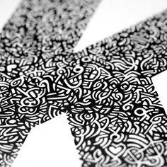 K.1 | Pen & Ink #modernism #illustration #typography #graphic #des