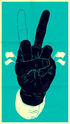 Designersgotoheaven.com - Peace Or War?Via hussamreda.com #sign #illustration