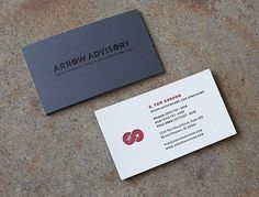 Fuzzco : Charleston, SC : Creative Studio : Web Design and Graphic Design : Arrow Advisory #red #white #business #modern #card #clean #collateral #dark #grey