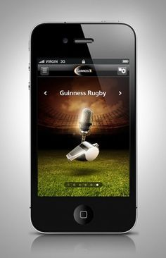 Guinness Rugby 2011 iPhone App on the Behance Network