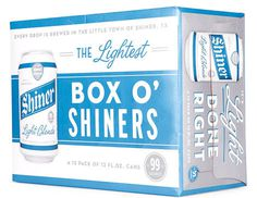 Shiner Light Blonde Case #packaging #beer #can