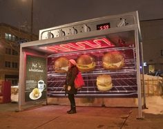I Believe in Advertising | ONLY SELECTED ADVERTISING | Advertising Blog & Community » Caribou Coffee: Ovens out of transit shelters #advertising