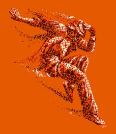 The orange dancer #illustration #collage #mosaic