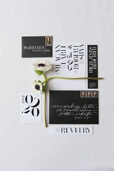 modern invitation design by Nichole Radman #invitation #typography