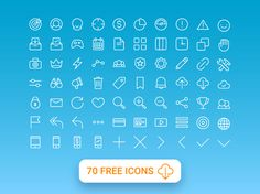 70 Free Multi Purpose Line Icons