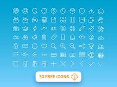70 Free Multi Purpose Line Icons
