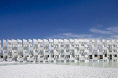 Casalgrande Ceramic Cloud | kengo kuma and associates #sculpture #white #water #sky #kuma #architecture #art