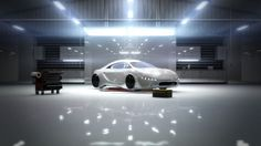 Future Cars, nice fluoro lighting