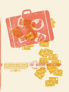 GigPosters.com - Brianna Lane - Cahalen Morrison - Meghan Yates - Scott Peterson #illustration #gig #poster #warm