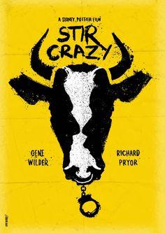搅拌疯狂 - 极简主义电影海报