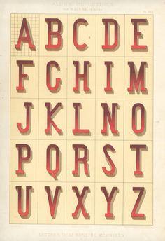 Alphabets_7 #alphabet #vintage #dimension #typography
