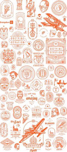 Portfolio Illustrations by Peter Voth #line #icon #Logotype #Marks #Branding #Identity #Outline #Illustration #LineArt #Character #Portfolio