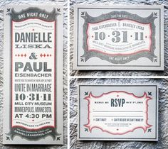 Matthew Flick / Pinterest #red #invitation #letterpress #black #type #typography