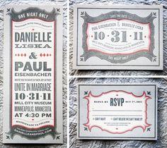 Matthew Flick / Pinterest #red #invitation #letterpress #black #type #typography