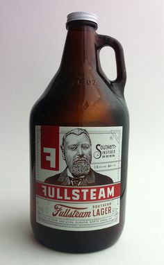Fullsteam Southern Lager 64 oz. GrowlerPhoto Sharing! #packaging #label #bottle #lager #growler #fullsteam