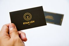 Personal Business Card 2013 #vector #visual #hotstamp #business #card #lion #2013 #namecard #identity #name #gold #logo #singapore