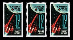 New SmartHeart site launch 12 april 2012 #old #russian #retro #soviet #space #letter #stars #rocket #postcard #moon
